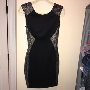 Black and silver/gold cocktail dress